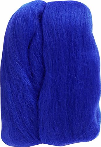 Clover 20 g 100 Percent Natural Wool Roving, Blue